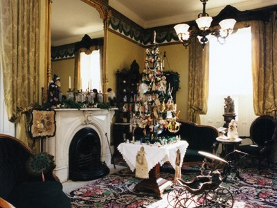 Front Parlor in Holiday Dress
