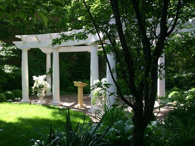 Garden Pergola Wedding Site